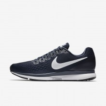 Nike Air Zoom Running Shoes For Men Obsidian/Thunder Blue/Black/White (460MGAPU)