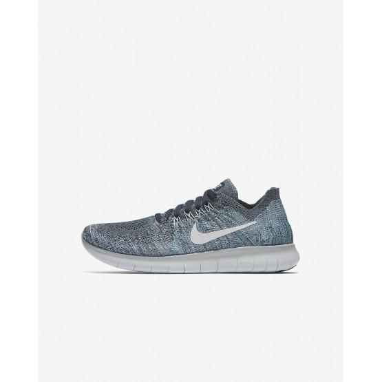 Nike Free RN Running Shoes For Boys Blue Fox/Wolf Grey/White/Pure Platinum (461JRGQC)