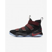 Nike LeBron Soldier XI Basketball Shoes Womens Black/Red Stardust/Gym Red (461KELZJ)
