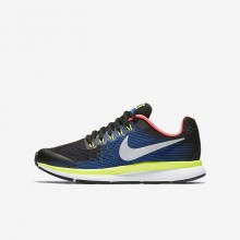 Nike Zoom Pegasus Running Shoes For Boys Black/Volt/Racer Blue/Chrome (468YSRDM)