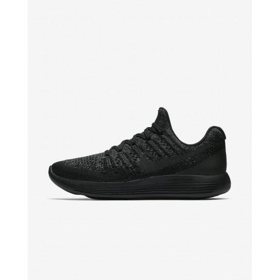 Nike LunarEpic Low Running Shoes For Women Black/Dark Grey/Racer Blue (478VLEAS)