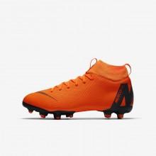 Nike Jr. Superfly VI Soccer Cleats For Boys Total Orange/Volt/White (483EVUPI)