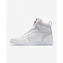 Air Jordan 1 Lifestyle Shoes Womens White/University Red (483SFZXV)