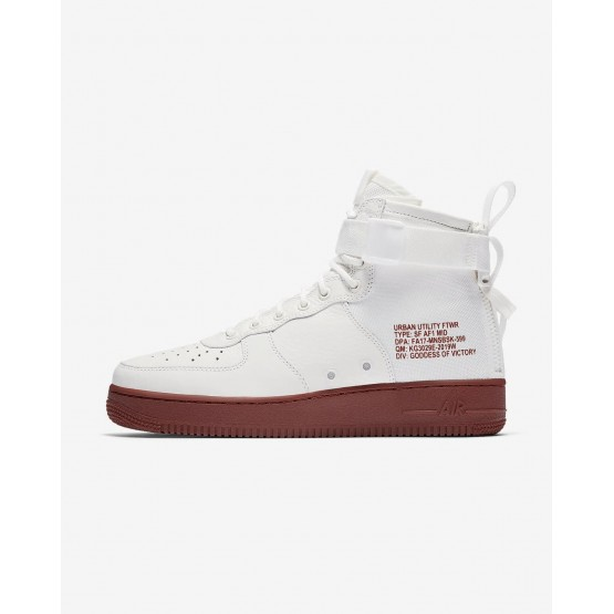 Nike SF Air Force 1 Lifestyle Shoes For Men Ivory/Mars Stone (487PCKUM)