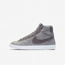 Nike Blazer Mid Lifestyle Shoes For Girls Atmosphere Grey/Gum Light Brown/White/Gunsmoke (492OFLWZ)