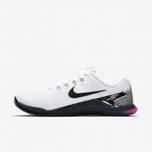Nike Metcon 4 Training Shoes For Women White/Fuchsia Blast/Laser Orange/Black (493PEDKM)