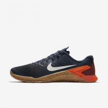 Nike Metcon 4 Training Shoes Mens Thunder Blue/Black/Hyper Crimson/White (500ARETP)