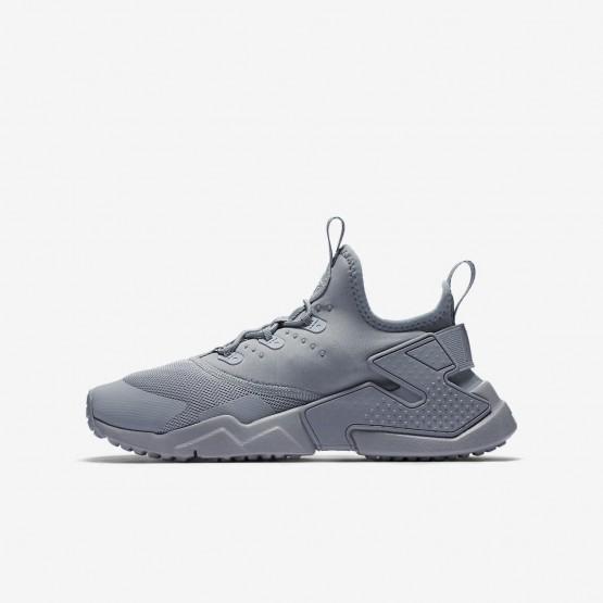 Nike Huarache Lifestyle Shoes Boys Wolf Grey/White (506EKGYV)