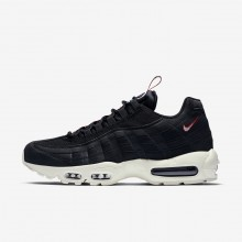 Nike Air Max 95 Lifestyle Shoes For Men Black/Gym Red/Sail (510FJXWM)