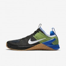 Nike Metcon DSX Training Shoes For Men Black/Racer Blue/Volt/White (517GXZLP)