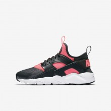 Nike Air Huarache Lifestyle Shoes Boys Anthracite/White/Hot Punch (522UZSRB)