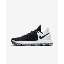 Nike Zoom KDX Basketball Shoes Womens Black/White (525DKUTR)