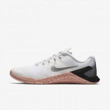 Nike Metcon 4 Training Shoes For Women White/Rust Pink/Black/Metallic Silver (532DMFSB)