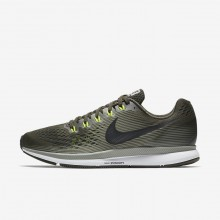 Nike Air Zoom Running Shoes For Men Sequoia/Dark Stucco/Volt/Black (534BKDGM)