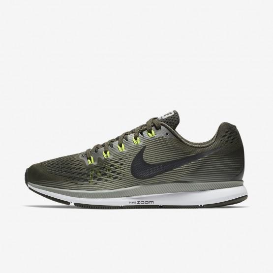 Nike Air Zoom Running Shoes Mens Sequoia/Dark Stucco/Volt/Black (534BKDGM)