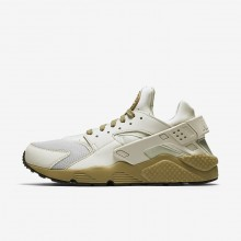Nike Air Huarache Lifestyle Shoes For Men Light Bone/Neutral Olive/Black (535WDFRL)