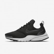 Nike Presto Fly Lifestyle Shoes Womens Black/White/Metallic Hematite (539BPMQO)