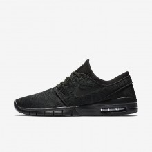 Nike SB Stefan Janoski Max Skateboarding Shoes Mens Black/Anthracite (540PAUDS)