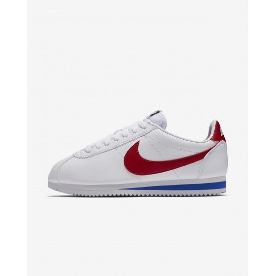 Nike Classic Cortez Lifestyle Shoes Womens White/Varsity Royal/Varsity Red (543JYTSU)