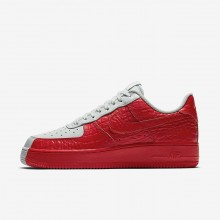 Nike Air Force 1 Lifestyle Shoes For Men Barely Grey/Habanero Red (551XECQY)