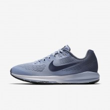 Nike Air Zoom Running Shoes For Women Armory Blue/Cirrus Blue/Cerulean/Armory Navy (552TFGEH)