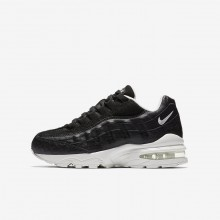 Nike Air Max 95 Lifestyle Shoes For Boys Black/Summit White (554FNRAH)