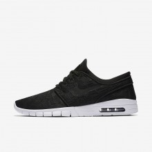 Nike SB Stefan Janoski Max Skateboarding Shoes For Men Black/White (554IZROD)