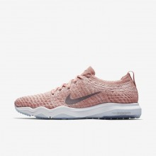 Nike Air Zoom Training Shoes For Women Rust Pink/White/Gunsmoke (557TLQFK)