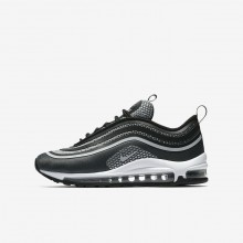 Nike Air Max 97 Lifestyle Shoes Boys Black/Anthracite/White/Pure Platinum (566SAYRM)