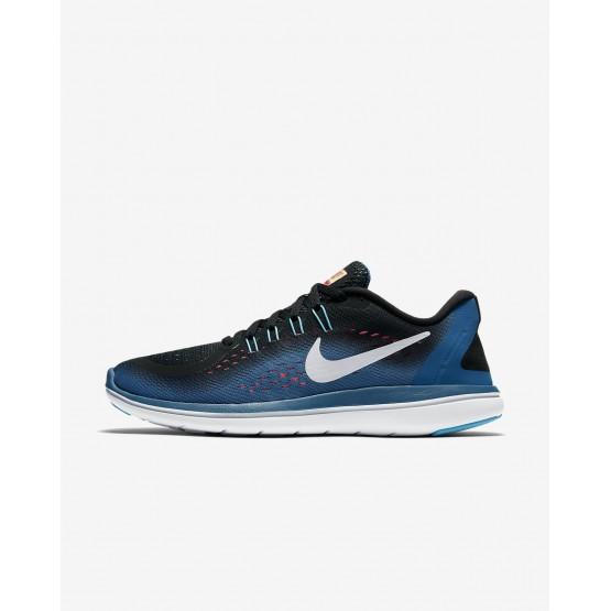 Chaussure Running Nike Flex 2017 RN Femme Noir/Bleu/Rose/Blanche (569HSXCQ)