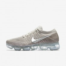 Nike Air VaporMax Running Shoes For Women String/Sunset Glow/Taupe Grey/Chrome (572WKOHX)