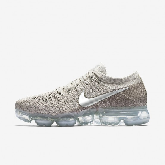 Nike Air VaporMax Running Shoes Womens String/Sunset Glow/Taupe Grey/Chrome (572WKOHX)