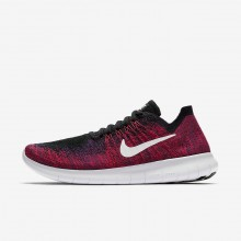 Nike Free RN Running Shoes For Boys Black/Total Crimson/University Red/Pure Platinum (576QAIEV)