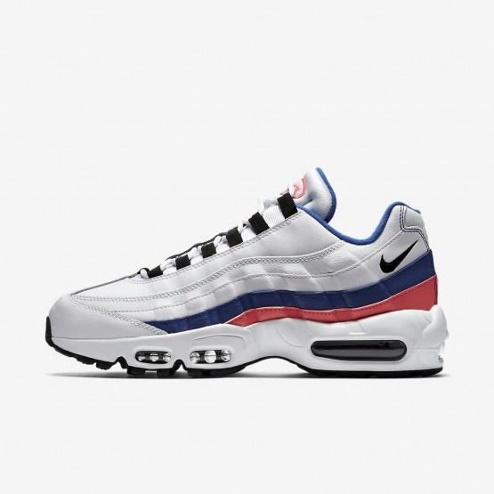 Chaussure Casual Nike Air Max 95 Homme Blanche/Rouge/Noir (577IBWOH)