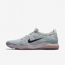 Nike Air Zoom Training Shoes For Women Pure Platinum/Barely Rose/Elemental Rose/Anthracite (580QNYRF)
