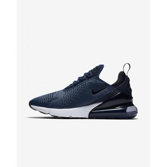 Nike Air Max 270 Lifestyle Shoes Mens Midnight Navy/White/Black (590VROGD)
