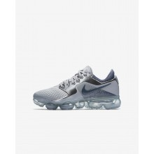 Nike Air VaporMax Running Shoes For Boys Wolf Grey/Metallic Silver/Anthracite/Light Carbon (591AZCSF)