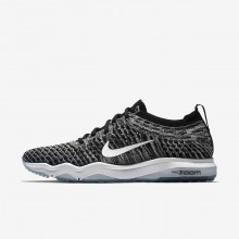Nike Air Zoom Training Shoes For Women Black/Cool Grey/White (592AWULT)