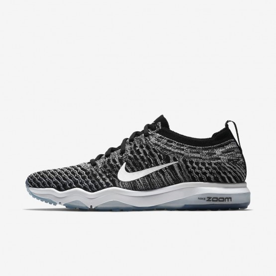 Nike Air Zoom Training Shoes Womens Black/Cool Grey/White (592AWULT)