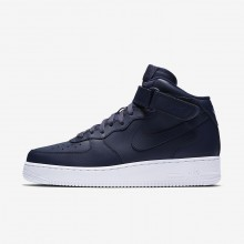 Nike Air Force 1 Lifestyle Shoes Mens Obsidian/White (595BGDZH)
