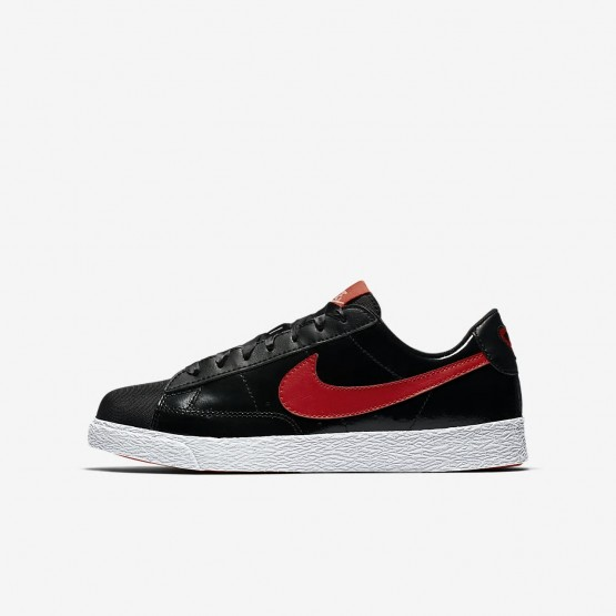 Nike Blazer Lifestyle Shoes For Girls Black/Bleached Coral/Speed Red (599NLEBG)