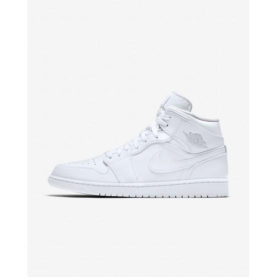 Air Jordan 1 Lifestyle Shoes Mens White/Pure Platinum (603JDNKR)