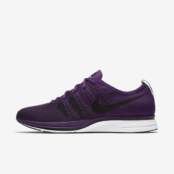 Nike Flyknit Trainer Lifestyle Shoes Mens Night Purple/White/Black (605QWLIG)