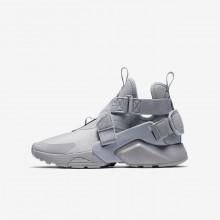 Nike Huarache Casual Sko Drenge Grå/Sort/Hvide (606TQBFS)
