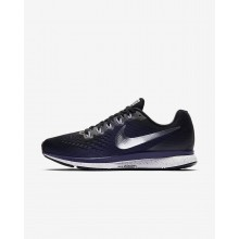 Nike Air Zoom Running Shoes Womens Black/Ink/Provence Purple/Metallic Silver (608JMNLP)