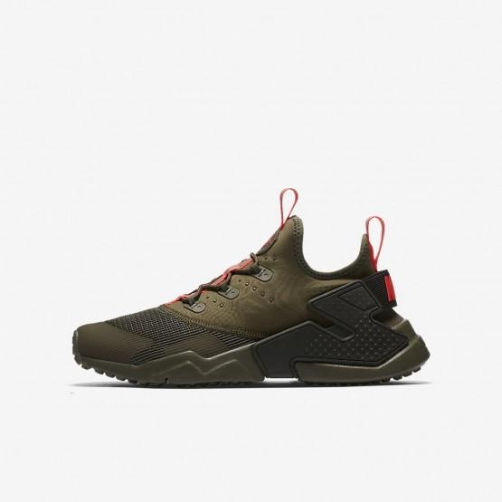 Nike Huarache Lifestyle Shoes Boys Medium Olive/Sequoia/Total Crimson (615QFPZR)