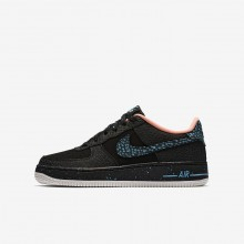 Nike Air Force 1 Lifestyle Shoes Boys Black/Crimson Pulse/Summit White/Lagoon Pulse (615URTNL)