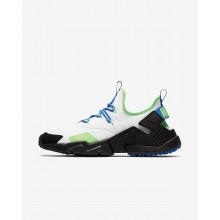 Nike Air Huarache Lifestyle Shoes Mens White/Black/Blue Nebula (621OCPKE)