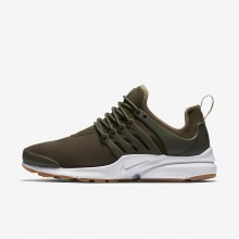 Nike Air Presto Lifestyle Shoes Womens Cargo Khaki/Neutral Olive/Gum Light Brown (629GNEUJ)