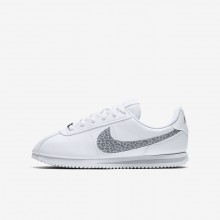Nike Cortez Lifestyle Shoes For Girls White/Gunsmoke/Atmosphere Grey (633ZVMOJ)